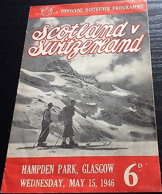 Scotland v Switzerland 1946 Football Programme,