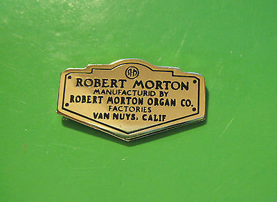 ROBERT MORTON Organ  company - hat pin, hatpin, lapel pin, tie tac