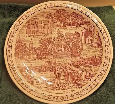 "New Mexico Collectible Plate 10 1/2"" Sante Fe  Carlsbad Caverns Made In Usa"