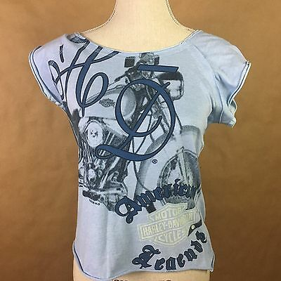 Harley Davidson Indy West Plainfield Indiana Women's Shirt Top Size Small Med