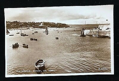 RP Postcard The Harbour Bangor Co. Down, R3565 Posted 1958 - PCBOX1