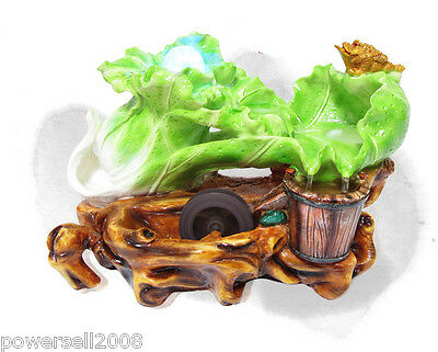 New Fashion Home Decorative Craft Gifts Cabbage Toad Flowing Water Fountain