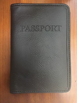 Pottery Barn Leather Passport Case Holder Chocolate Brown Wolf NWOT