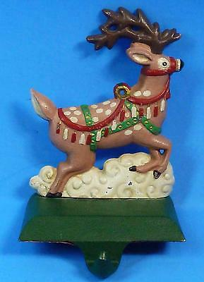 Midwest Cast Iron Santa's Reindeer Christmas Stocking Hanger Holder No Box Used