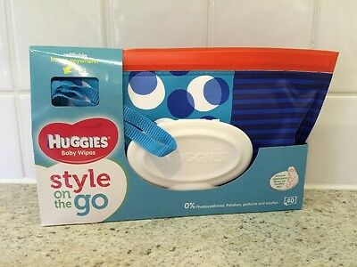 Huggies Baby Wipes Style On The Go - 40 Wipes in Carrying Pouch - Circles Design
