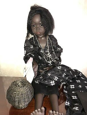 Philip Heath For Gotz Lualaba African Girl Zaire Doll Mint In Box 1995 New Rare!