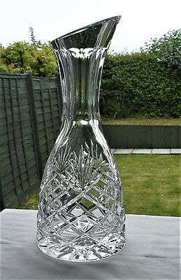 Stunning Large Heavy Cut Glass Crystal Carafe
