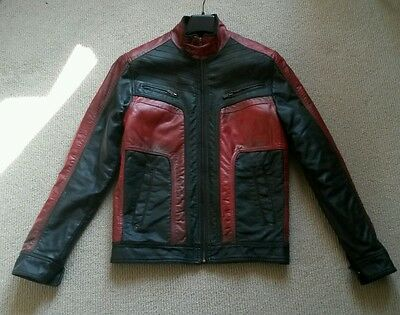 """2012 Dredd """"The Judged"""" Screen used Mens Leather Jacket Size M"""