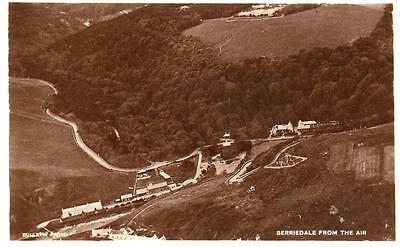Berriedale from Air Aerial View Nr Helmsdale RP old pc used 1938 D Ross