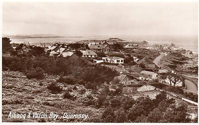 Albecq Vazon Bay Guernsey unused RP old pc Photo Precision