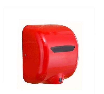 Red Stainless Steel Bathroom Wall Mounted Automatic Induction Hand Dryer Machine