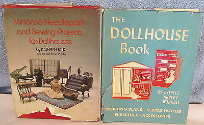 1960's/1970's Dollhouse Miniatures Books~Mini Needlepoint & Sewing~House Plans++