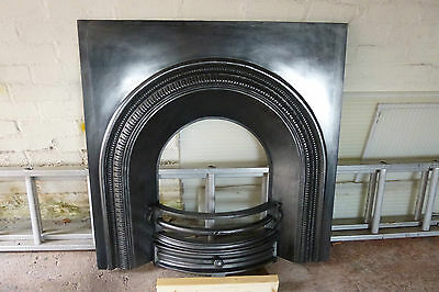 Cast Iron Arched Victorian style fireplace frontage.