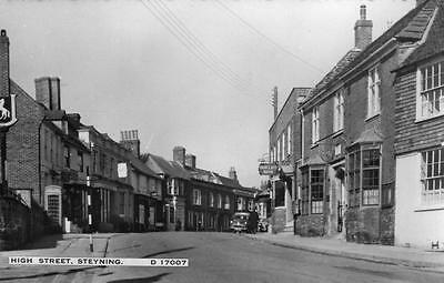 High Street Steyning deckle edge RP old pc used 1966 Norman