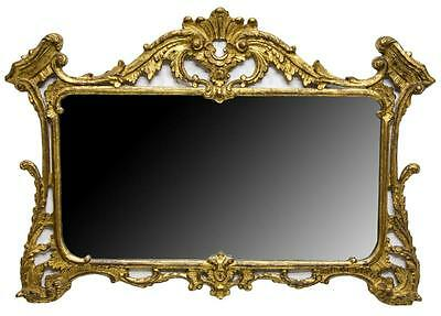 GORGEOUS LARGE ITALIAN GILTWOOD FRAMED MIRROR, 19th century ( 1800s )