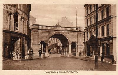 Ferryquay gate Londonderry pc used 1916 Valentines