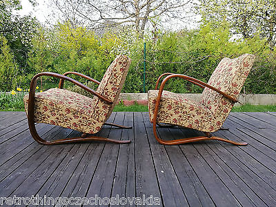 Halabala´s armchairs H-269, art deco style, first half 20th century.