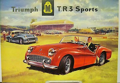 1958 Triumph TR3 Sports Car USA Dealer Sales Brochure Folder