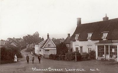 Market Street Laxfield Shop Nr Halesworth Brundish unused RP pc