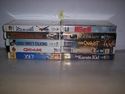 Lot Of 10 Children And Family Vhs Tapes In Clamshell Cases    #16