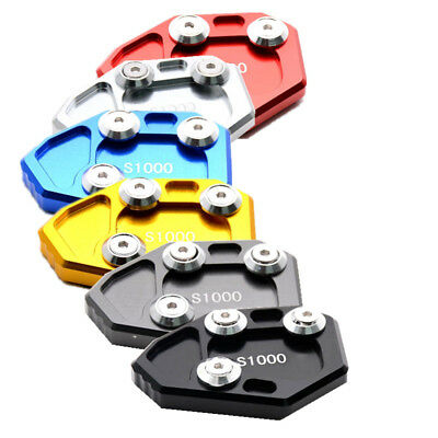 CNC Kickstand Side Stand Plate Pad Base Plate For BMW S1000RR 2009-2016