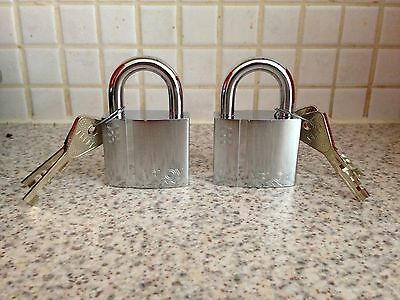 Two Abloy PL330 High Security Padlocks With 2 Keys Each - New and un-used