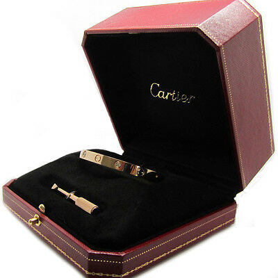 Cartier Love Bracelet in 18k Rose Gold with 4 Diamonds Size 16