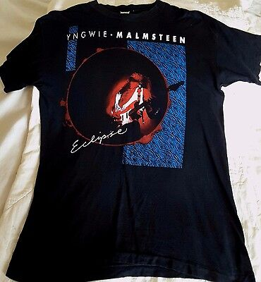 Vintage Yngwie Malmsteen Eclipse Tour 1990 T Shirt X Large