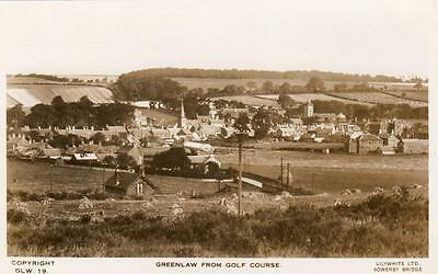Greenlaw from Golf Course Nr Coldstream Kelso RP pc used Lilywhite