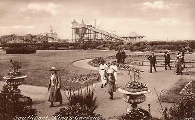 Southport King's Gardens Fairground unused old pc Frith