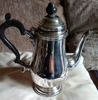 Georgian style solid silver coffee pot 28 ozs