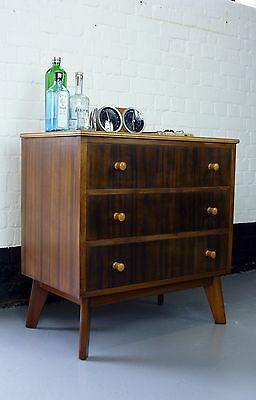 1950 Vintage Mid Centuy Chest of Drawers by Morris of Glasgow