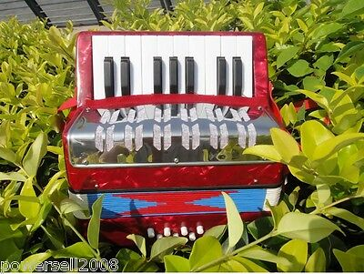 Professional Standard Tone 17 Key 8 Bass Children Musical Instruments Accordion