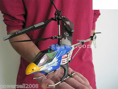 New Blue Length 28.5CM Remote Control Plane Helicopter Model Gift Children Toys