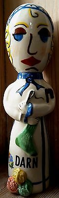 Ceramic Darning Egg Doll by Adrian Pottery Collectable Unusual Beautiful Gift