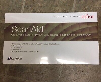 Brand New Fujitsu ScanAid Consumable Part Kit CG01000-524801 Models fi-6X40/6X30