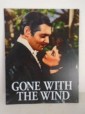 Gone with the Wind Scarlet and  Rhett O'Hara Sign Metal Movie Southern