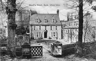 Stock's Hotel Sark Channel Islands old pc used 1910 Tozers Sarnian Series