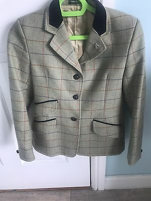 "30"" Tweed Caldene Show Jacket Maids 100%wool (le Bea Cheval Pretty Ponies Mears)"