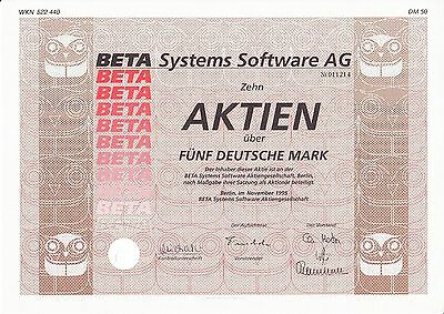 Beta Systems Software AG, Berlin 1995