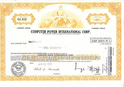 Computer Power International Corp., 1973