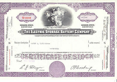 Electric Storage Battery Company, 1956