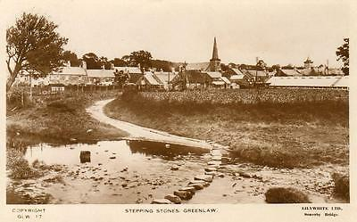 Stepping Stones Greenlaw Nr Coldstream Kelso RP pc used 1932 Lilywhite