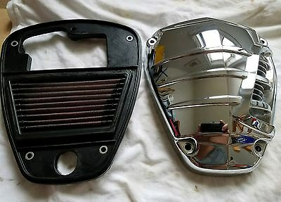 Vulcan 900 The Scoop Air Box Cover and K&N Air Filter (Used)