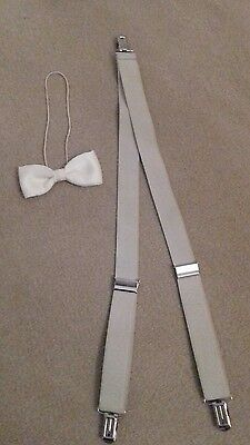 kids braces and bow tie, boys christening,  wedding outfit