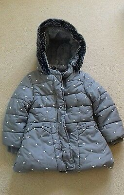 girls winter coat, 2-3 years, M&S