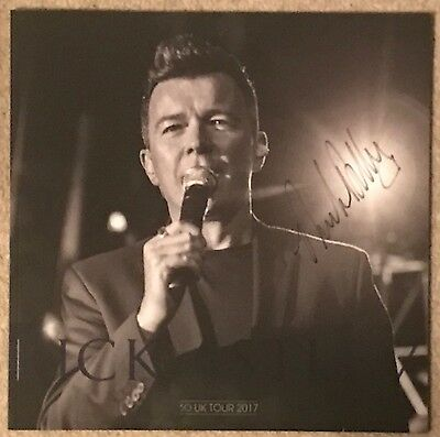 Hand Signed Rick Astley Official 2017 U.K 50 Tour Programme Rare New Unopened