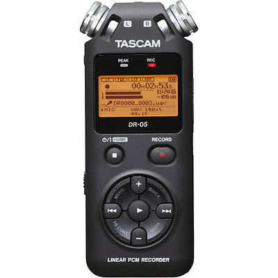 Tascam DR-05 Digital Hand Held Stereo Recorder - Mint - Boxed, Manual, SD Card