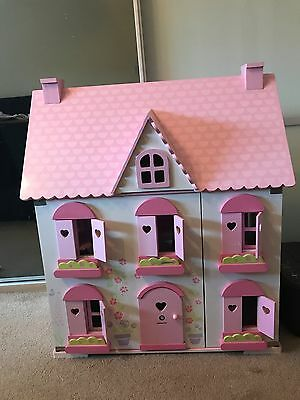ELC Rosebud Cottage Dolls House With Accessories collection only
