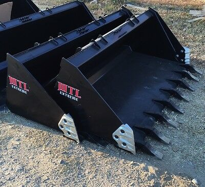 "80"" Severe Duty Tooth / Dirt Bucket w/ side cutters skid steer Bobcat-Ship $149"